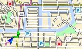 Navigationskarte Lizenzfreie Stockfotografie