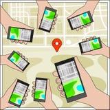 Navigationskonzept-Vektorillustration Stockbild