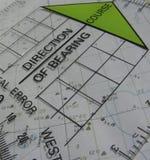 Navigationskurs Stockfoto