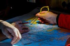 Navigationswegplanung stockfotos