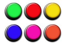Navigative buttons. Set of colorful web buttons Royalty Free Stock Image