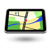 Navigator 1 (black, horizontal). GPS Navigator (black, horizontal view). Editable  Illustration Royalty Free Stock Images