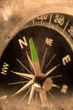 Navigator. Retro look of compass showing the way to north Stock Images