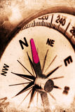 Navigator. Retro look of compass showing the way to north Royalty Free Stock Photos