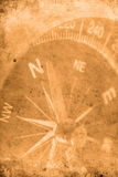Navigator. Retro look of compass showing the way to north Stock Image