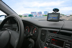 Navigator in car Royalty Free Stock Photos