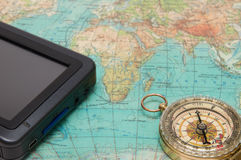 The navigator and compass Royalty Free Stock Photos