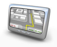 Navigator gps with map on the screen Stock Images