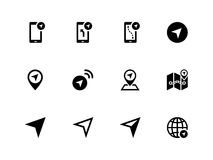 Navigator icons on white background. Stock Photo