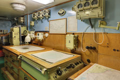 The navigator pilothouse Stock Image