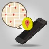 Navigator van smartphoneconcept Royalty-vrije Stock Afbeeldingen