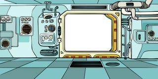 Navigatorcabine van het ruimtevaartuig royalty-vrije illustratie