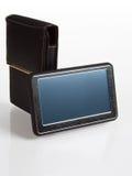 Navigatore di GPS con il coperchio isolato Fotografia Stock