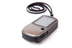 Navigatore di GPS isolato su bianco. Immagini Stock