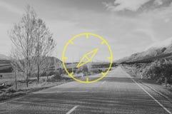 Navigatore Exploration Navigation Concept dell'icona della bussola Fotografia Stock Libera da Diritti