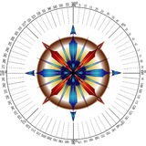 Navigators compass rose Stock Photography