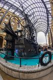 The Navigators, a sculpture by David Kempton in Hays Galleria. LONDON, ENGLAND - NOVEMBER 27, 2017: The Navigators, a sculpture by David Kempton in Hays Galleria Stock Image