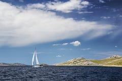 Navigazione da diporto in Croazia Fotografie Stock Libere da Diritti