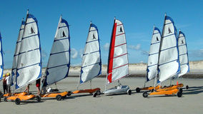 Navigazione da diporto sulla spiaggia Fotografia Stock Libera da Diritti