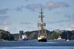 Navigazione del Kiel Canal Fotografia Stock
