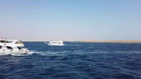 Navigazione dell'yacht sul mare marino aperto Barca di navigazione Video di navigazione da diporto Video di navigazione Navigazio stock footage