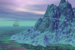 Navigazione della nave Immagini Stock