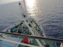 Navigazione della nave nel mare Fotografia Stock Libera da Diritti