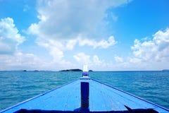 Navigazione della testa della barca di vista Immagine Stock