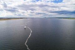 navigazione della Vela-nave Fotografie Stock