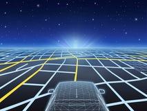 Navigazione di notte illustrazione vettoriale