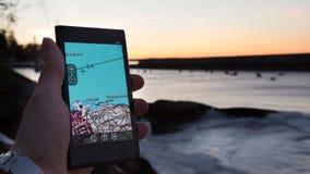 Navigazione di Smartphone Fotografia Stock