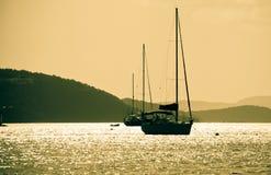 Navigazione di tramonto Immagini Stock