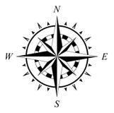 Navigazione marina della rosa dei venti del compassrose della rosa dei venti isolata Immagine Stock