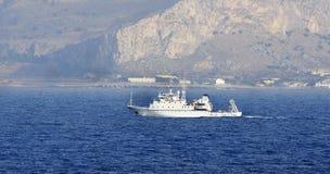 Navigazione nel Mediterraneo, Tunisia della barca Fotografia Stock
