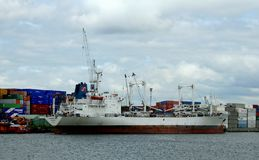 Navigazione nel porto di Rotterdam Fotografie Stock Libere da Diritti