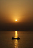 Navigazione-più sunrays prominenti Fotografie Stock Libere da Diritti
