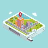 Navigazione piana di GPS della mappa royalty illustrazione gratis