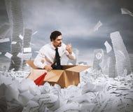 Navigeer de bureaucratie stock foto