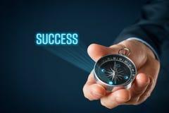 Navigeer en motiveer aan succes royalty-vrije stock afbeelding