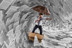 Navigeer het onweer van bureaucratie stock afbeeldingen
