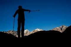 Navigering i bergen Arkivbilder