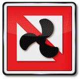 Navigering och förbud på det motoriserade hantverket stock illustrationer
