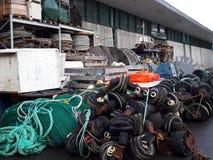 Navigering- och fiskematerial Royaltyfri Foto