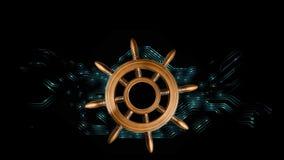 Navigering vid informationshavet royaltyfri illustrationer