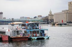Navigeringsäsongöppning i Moskva Fotografering för Bildbyråer