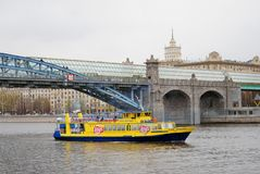 Navigeringsäsongöppning i Moskva Arkivfoto