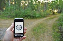 navigeringsmartphone Royaltyfri Bild