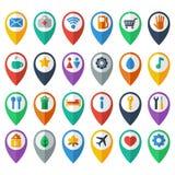 Navigeringsymboler royaltyfri illustrationer