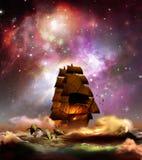 Navigieren unter Sternen Stockfotos