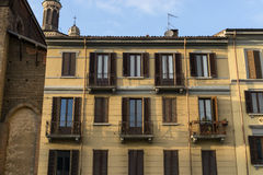 Navigli District Canal building Royalty Free Stock Photography